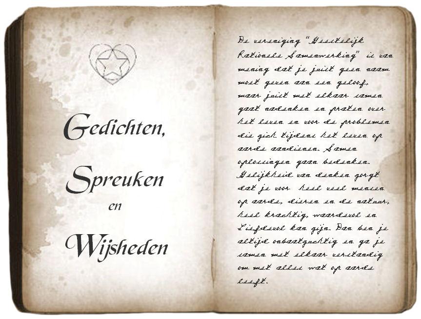 Citaten En Gedichten : Gedichten spreuken en wijsheden vereniging geestelijk