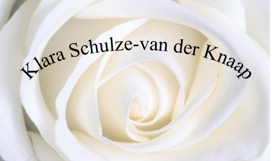 Overlijden Klara Schulze – van der Knaap